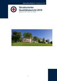 Strukturierter Qualitätsbericht 2010 - Rotkreuzklinik Wertheim