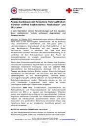 Ausbau kardiologischer Kompetenz: Rotkreuzklinikum München ...