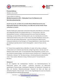 Weltkontinenzwoche 2013 - Rotkreuzklinik Wertheim