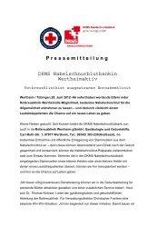 DKMS Nabelschnurblutbankin Wertheim aktiv