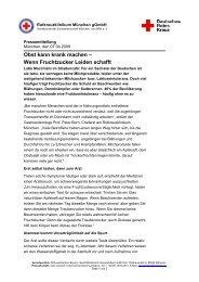 Wenn Fruchtzucker Leiden schafft - Rotkreuzklinik Wertheim