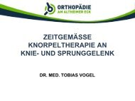 Knorpelschäden an Knie- und Sprunggelenk - Rotkreuzklinikum ...