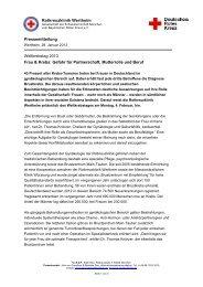 Weltkrebstag 2013: Angriff auf Rollen der Frau - Rotkreuzklinikum ...