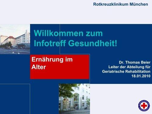 Ernährung im Alter - Rotkreuzklinikum München
