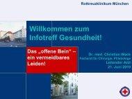 Das offene Bein - Rotkreuzklinikum München