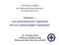 Varizen - Rotkreuzklinikum München