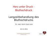 Langzeitbehandlung des Bluthochdrucks - Rotkreuzklinikum München
