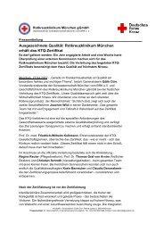 Ausgezeichnete Qualität: Rotkreuzklinikum erhält KTQ-Zertifikat