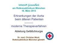Die Aorta - Rotkreuzklinikum München