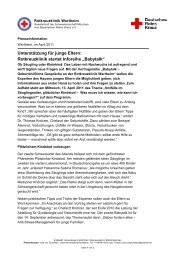 Unterstützung für junge Eltern: Rotkreuzklinik startet Inforeihe ...