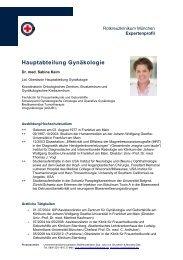 Expertenprofil als pdf - Rotkreuzklinikum München