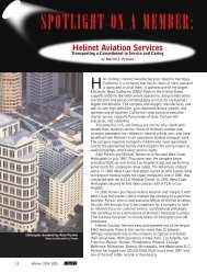 Spotlight on a Member: Helinet Aviation Services