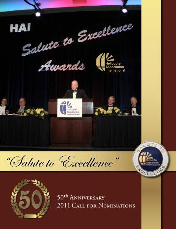 """Salute to Excellence"" - Helicopter Association International"