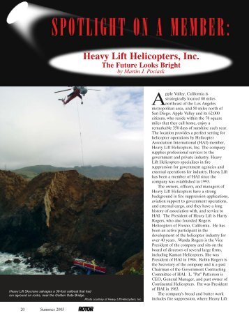 Heavy Lift Helicopters, Inc. - Helicopter Association International