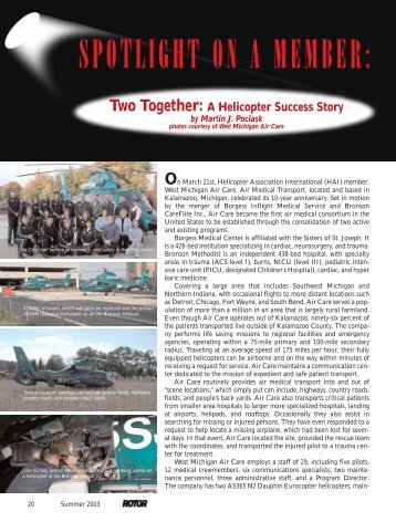 Two Together: A Helicopter Success Story - Helicopter Association ...