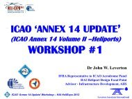 ICAO ANNEX 14 - Home - Helicopter Association International