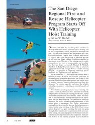 The San Diego Regional Fire and Rescue Helicopter Program Starts ...