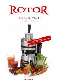 • Katalog 2013/2014 • - ROTOR Küchenmaschinen GmbH
