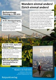 Wandern einmal anders! Zürich einmal anders! - Rotpunktverlag