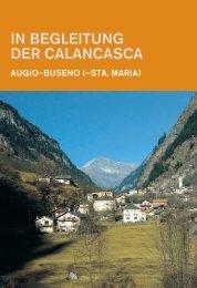 IN BEGLEITUNG DER CALANCASCA - Rotpunktverlag