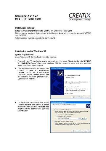 Creatix CTX 917 V.1 Dvb-T/Tv-Tuner Card