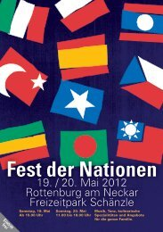 Fest der Nationen - Stadt Rottenburg am Neckar