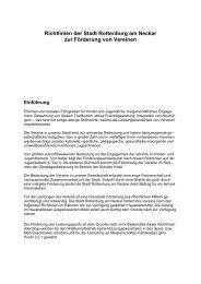 Richtlinien zur Förderung von Vereinen - Stadt Rottenburg am Neckar