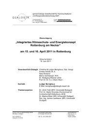 Dokumentation der Gemeinderats-Klaurtagung 15. und 16. April 2011