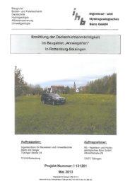 Ermittlung der Deckschichtenmächtigkeit vom Mai 2013 - Stadt ...