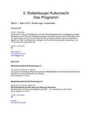 Programm Rottenburger Kulturnacht 2013 - Stadt Rottenburg am ...