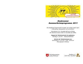 Sommerferienprogrammheft 2011 Seebronn - Stadt Rottenburg am ...