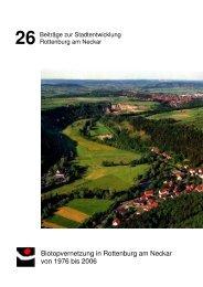 Biotopvernetzung in Rottenburg am Neckar, Beiträge zur ...