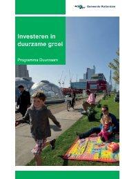 Investeren in duurzame groei - Gemeente Rotterdam