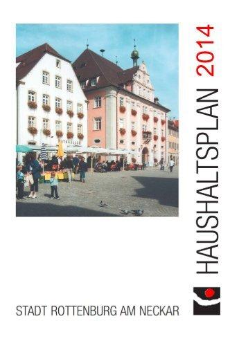 Haushaltsplan 2014 - Stadt Rottenburg am Neckar