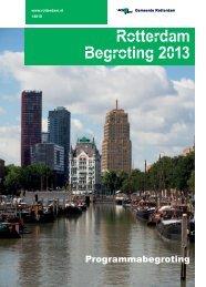 [PDF] Rotterdam Begroting 2013 - Gemeente Rotterdam
