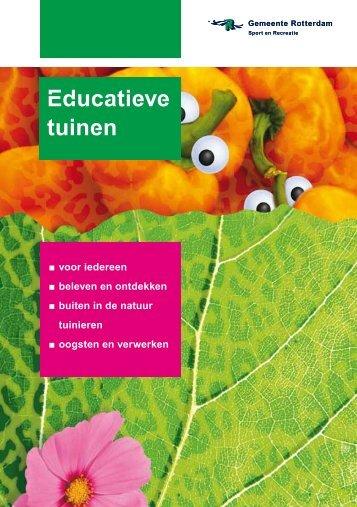 [PDF] Educatieve tuinen - Gemeente Rotterdam