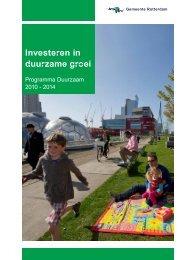Investeren in duurzame groei - Rotterdam Climate Initiative