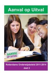 Programma Aanval op Uitval - Rotterdams Onderwijsbeleid