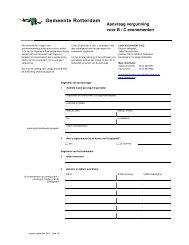 [PDF] Aanvraag vergunning voor B / C evenementen