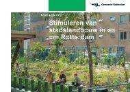 Stimuleren van stadslandbouw in en om Rotterdam - Gemeente ...