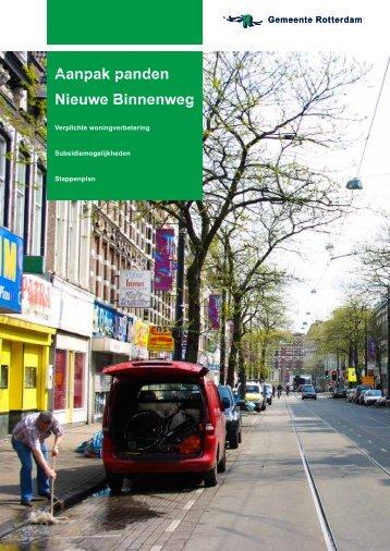 [PDF] Aanpak panden Nieuwe Binnenweg - Gemeente Rotterdam