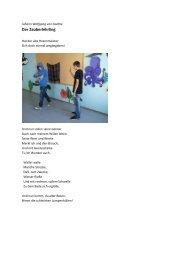 Der Zauberlehrling - Rottmayr-Gymnasium