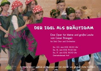 Der Igel als BrautIgam - Rottmayr-Gymnasium
