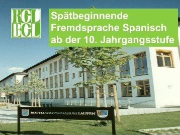 Spanisch spätbeginnend - Rottmayr-Gymnasium