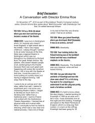 Emma Rice Lecture Series - Roundabout Theatre Company