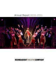 Annual Report 2010–2011 - Roundabout Theatre Company