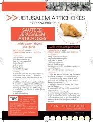 JERUSALEM ARTICHOKES - Round & About Magazine