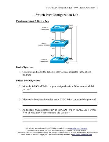 Intermediate Ospf Lab Router Alley