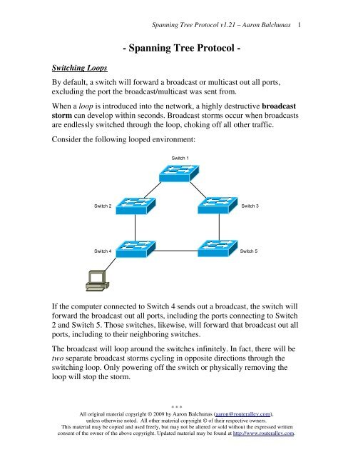 Spanning Tree Protocol (STP) - Router Alley