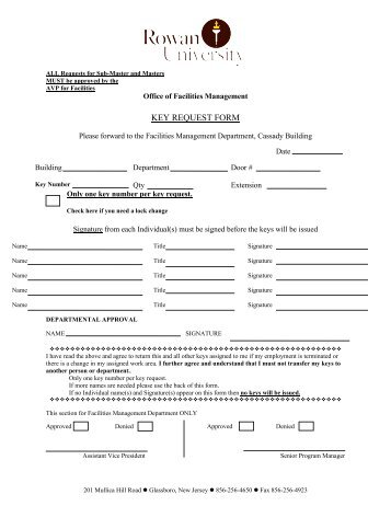 Pbs Key Request Form  Business Office